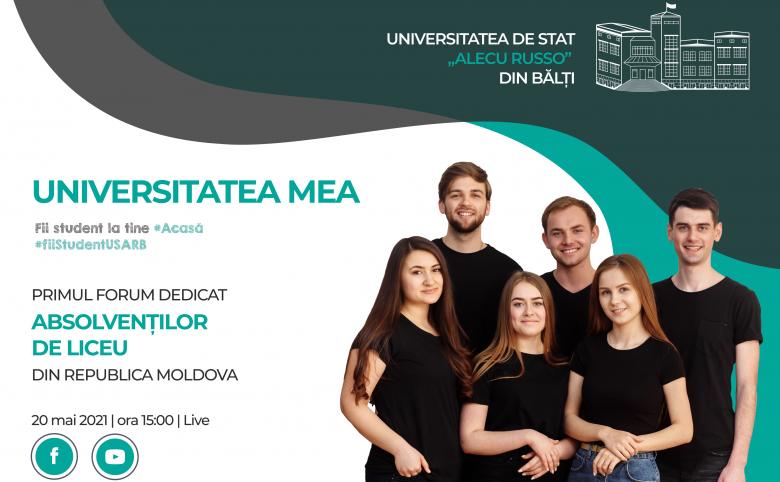 """Primul forum de ghidare în carieră destinat absolvenților de liceu ,,UNIVERSITATEA MEA"""""""