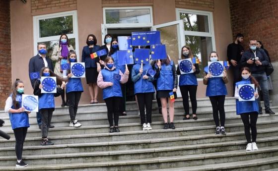 Flash-mob. UE-Moldova: împreună mai puternici!