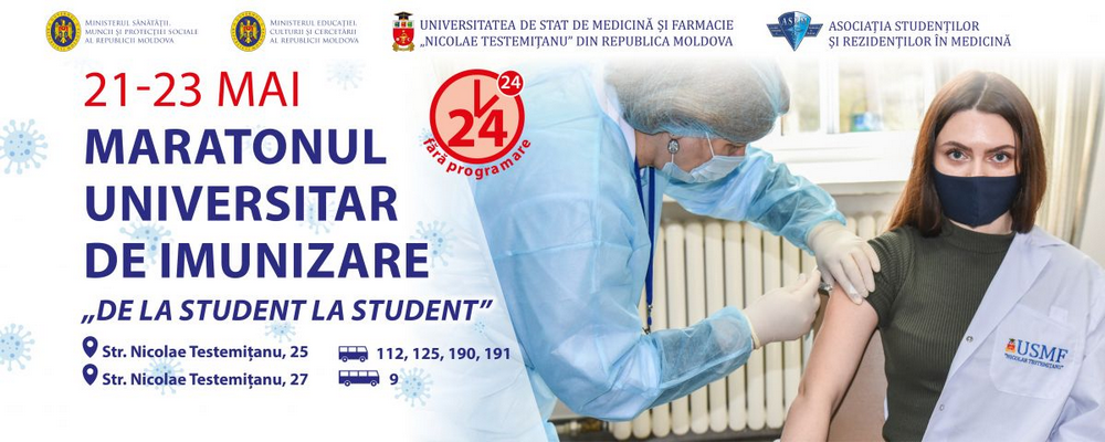 AVIZ PENTRU STUDENȚI (campanie națională de vaccinare împotriva COVID-19)