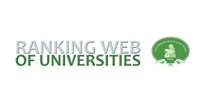 USARB este pe locul 4 în Webometrics, ediția din iulie 2021