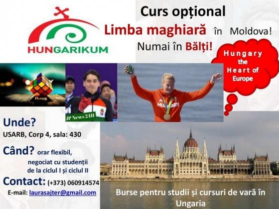 Cursuri gratuite de limbă și culturămaghiară!