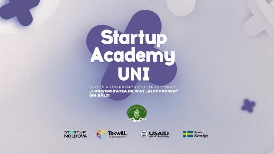 Programul de învățare a antreprenoriatului tehnologic în USARB – Startup Academy UNI !