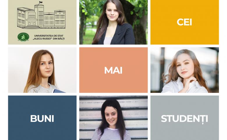 """Patru studente de la Universitatea de Stat """"Alecu Russo"""" din Bălți au obținut trei dintre cele mai apreciate burse de merit din Moldova"""